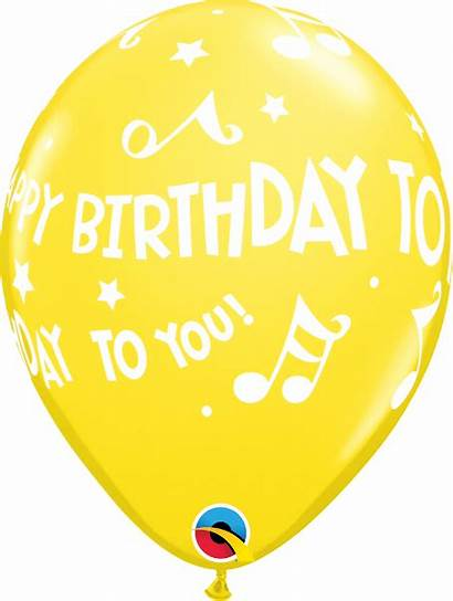 Birthday Happy Yellow Balloons Notes Balloon
