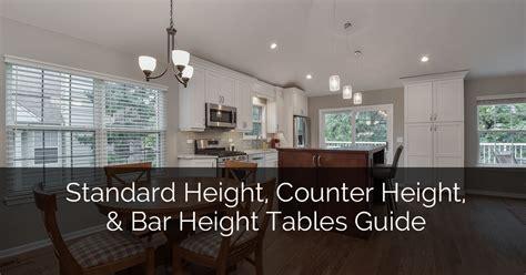 standard height counter height  bar height tables