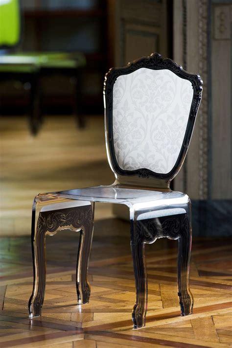 chaises en plexiglas chaise baroque en plexiglas