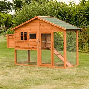 Malaga Large Chicken Coop With Run And Nest Box Hen Duck