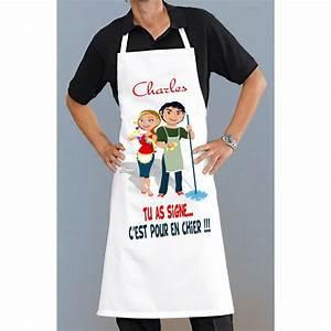 Tablier De Cuisine Homme : tablier de cuisine homme ou femme rigolo pour cuisiner ou ~ Melissatoandfro.com Idées de Décoration
