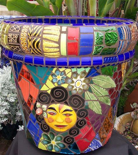 Mosaic Garden Art  Passiflora Mosaics  Fred & Donnell