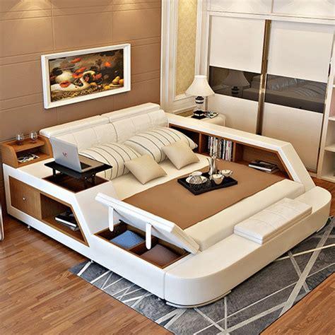 modern leather queen size storage bed frame  storage