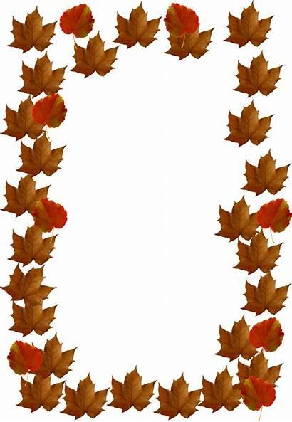 Fall Leaves Clip Border Autumn Clipart