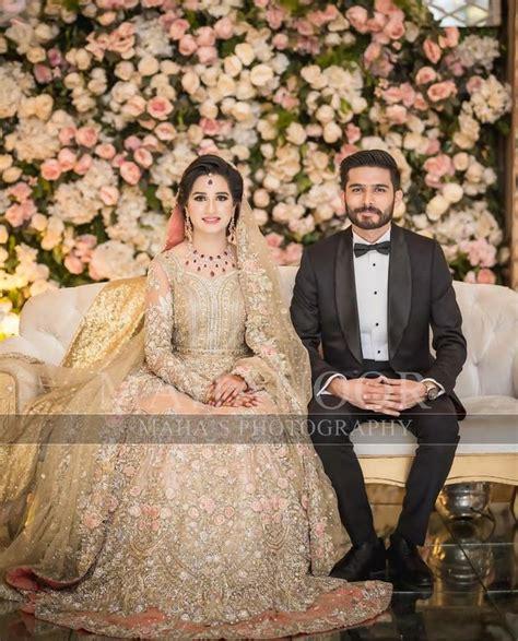 beautiful pakistani wedding dresses shoot couple
