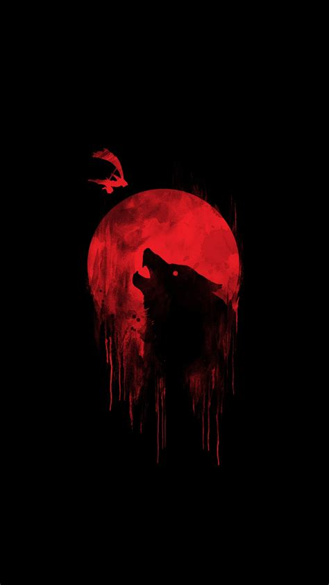 blood moon wolf iphone wallpaper iphone wallpapers