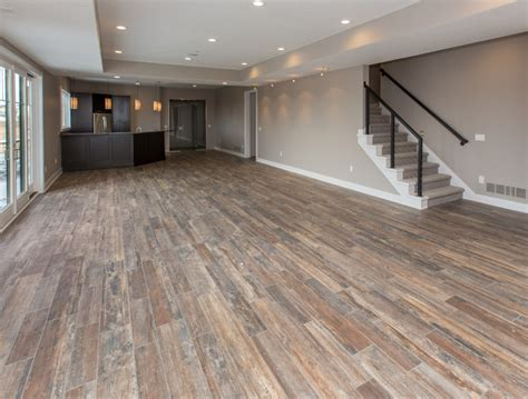 hardwood flooring in basement 800 65th street contemporary basement other metro by homes by dephillips