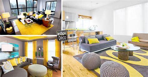 cuisine salle a manger déco jaune et gris dans le salon 25 idées créatives