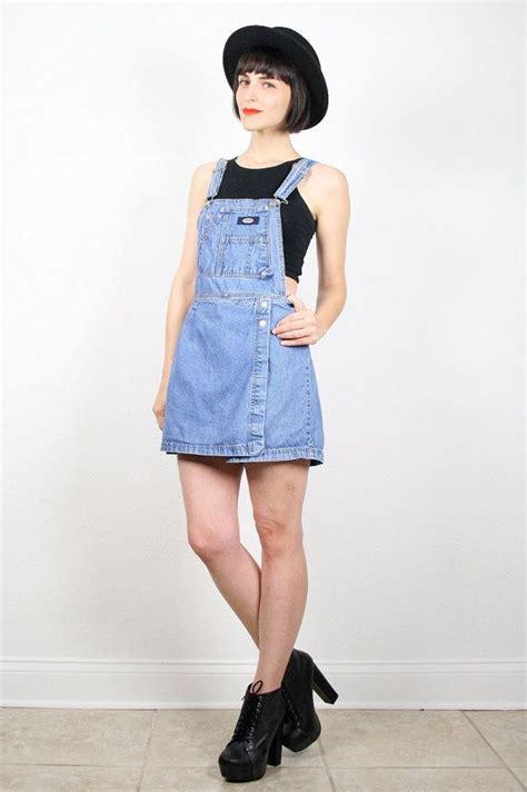 Vintage 90s Overalls Grunge Overalls Dress Shorts 1990s Shortalls Mini Dress Skort Overall ...