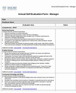 7 employee self assessment samples sample templates With self assessment templates employees