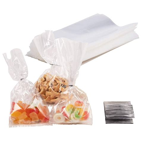 Gusset Cellophane Bags - 200-Pack Clear Bags Suitable for ...