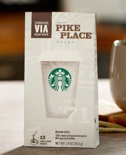 Calories % daily value* 0%. Coffee Consumers | Starbucks VIA Instant Pike Place - 60 Single Packets (5 Packs)