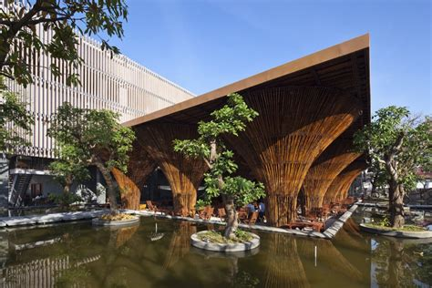 bamboo architecture kontum indochine cafe in