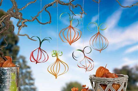Herbstdeko Fenster Schnell by Herbstdeko Basteln K 252 Rbis H 228 Nger Aus Papier
