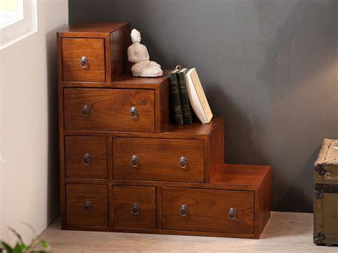 tabouret bar cuisine meuble escalier en bois 7 tiroirs l76xp34cm