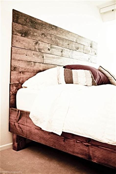 Farmhouse Bed Frame and Headboard Set / Reclaimed Style