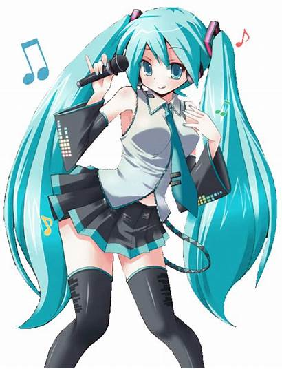 Manga Hatsune Cheveux Bleu Miku Musique Fandub