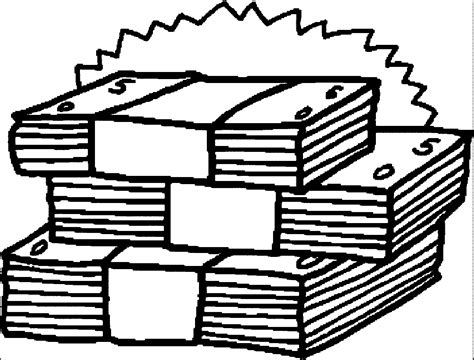 money clipart black and white money black and white clipart clipground