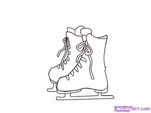How To Draw Ice Skates, Step by Step, Sports, Pop Culture ...