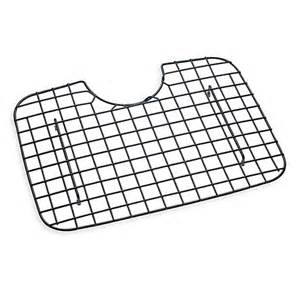 buy d shaped kitchen sink protector in black coated steel from bed bath beyond