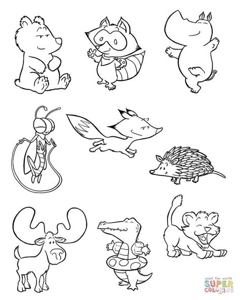 baby animals  coloring page  printable coloring pages