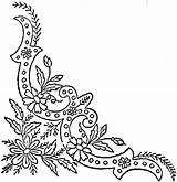Corner Border Coloring Daisy Ornate Stencils Template English Embroidery Ingalls Templates Flickr sketch template