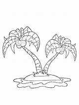 Island Coloring Mycoloring Printable sketch template