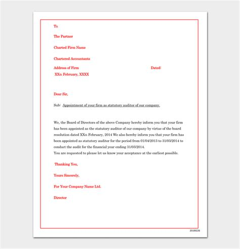company appointment letter  samples  word