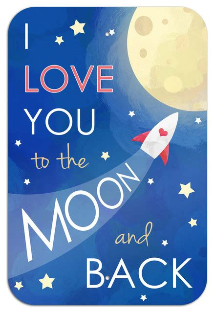 """I Love You to the Moon and Back Metal Sign 6"""" x 9""""   Contemporary   Kids Wall Decor   by Made on"""