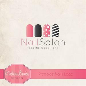 Premade Nail Salon Logo Nail Art Logo by ...