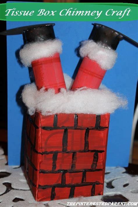tissue box christmas chimney craft  pinterested parent