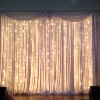 twinkle light curtains pipe and drape with twinkle light curtains beautiful