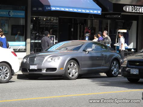 bentley canada bentley continental spotted in vancouver bc canada on 09