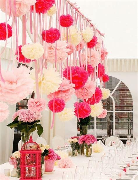 wedding buffet ideas using pom pom for wedding reception decorations wedding buffet