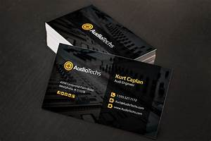 Audio engineer business cards logo business card for Engineer business card