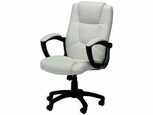 Conforama Chaise Bureau : fauteuil de bureau sam coloris blanc vente de fauteuil de bureau conforama ~ Teatrodelosmanantiales.com Idées de Décoration