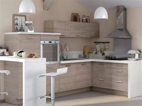 petites cuisines cuisine bois plan de travail blanc castorama