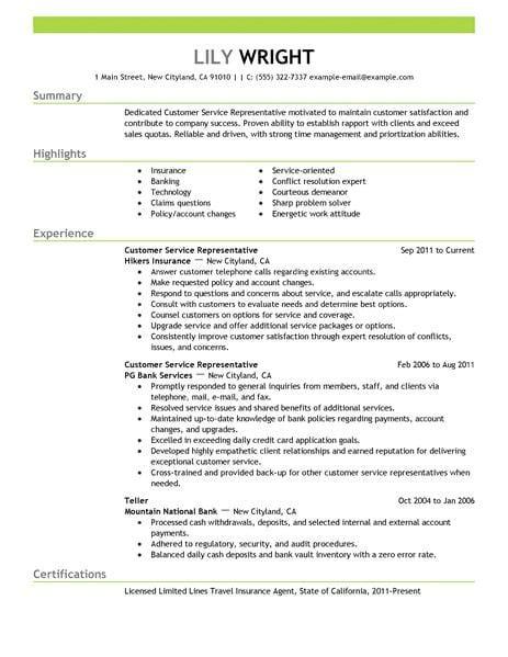 resume template customer service 15 amazing customer service resume exles livecareer resum