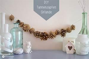 Tannenzapfen Deko Ideen : diy goldene girlande aus tannenzapfen ~ Markanthonyermac.com Haus und Dekorationen