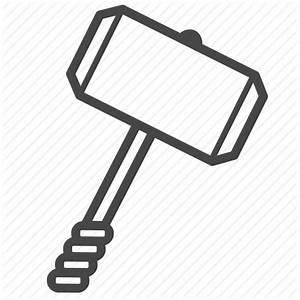 Hammer, thor, viking, war, weapon icon