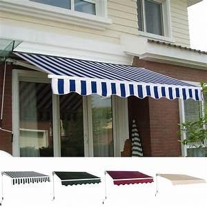 Manual Patio 8 2 U0026 39   U00d7 6 5 U0026 39  Retractable Sunshade Awning