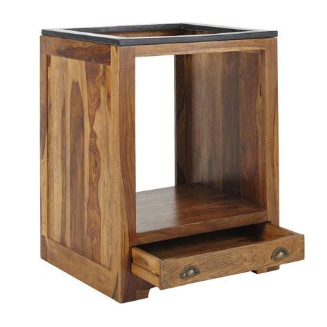 meubles cuisine bois massif meuble bas de cuisine pour four en bois de sheesham massif