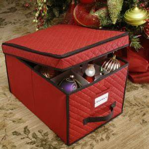 Ornament Storage Box With Dividers For Decorations