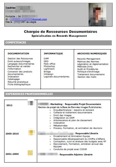 télécharger modèle cv sans photo exemple de cv responsable qualit 233 gratuit sle resume