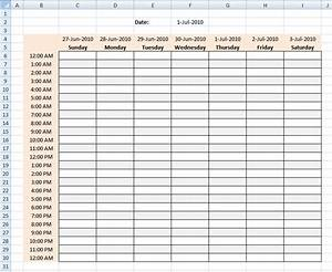 daily hourly schedule template in excel format analysis With hourly checklist template