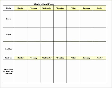 Meal Planner Template Word by 5 Daily Meal Planner Template Sletemplatess