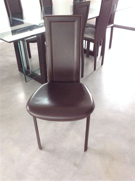 chaises en cuir roche bobois roche bobois