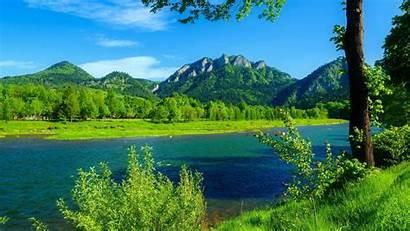 Landscape Desktop Summer Mountains River Poland Sky