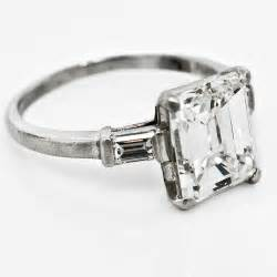 emerald vintage engagement rings vintage emerald cut engagement ring claude morady estate jewelry