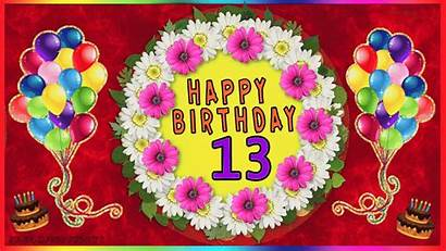 Birthday 13th Happy Greetings Age Cards